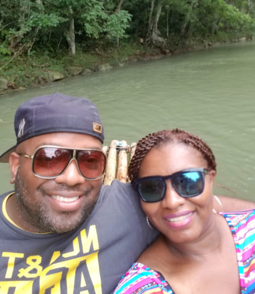 Jamaica Bamboo Rafting Couple Lethe Estate Excursion