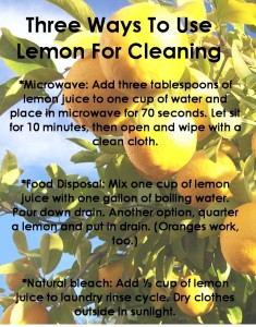 Spring Cleaning with Lemon