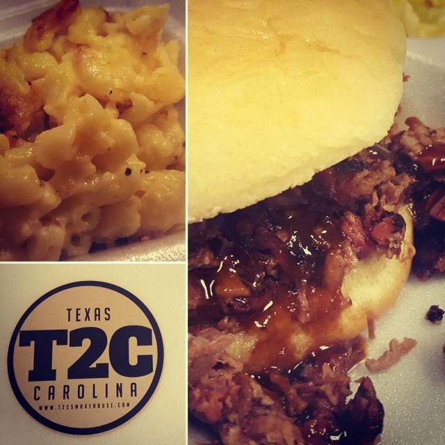 Todays lunch from cltfoodtruck t2csmokehouse! brisket macncheese SoGood WhereIsMyPillow