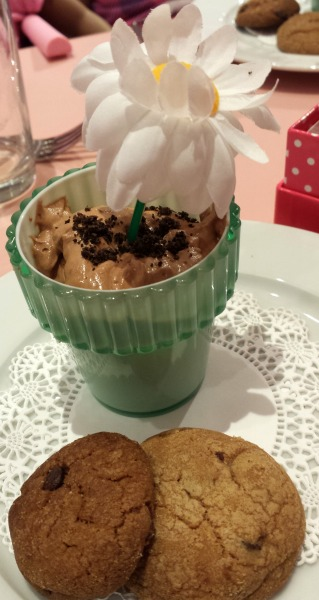 American Girl Bistro chocolate mousse flowerpot