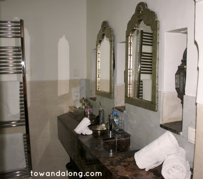 Bathroom in Riad in Marrakech Morocco