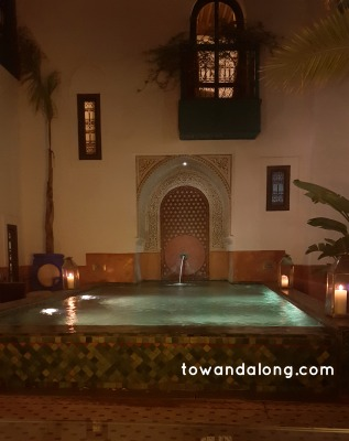 pool in Marrakech Morocco at Riad Farnatchi