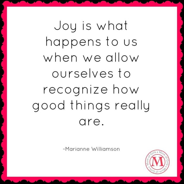 Joy is what happens to us when we allow ourselveshellip