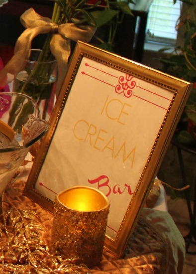 ice cream party bar free printable sign