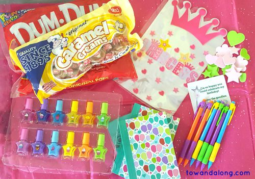 girl spa birthday party goodie bag ideas