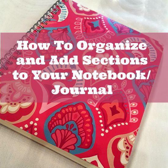 howtoorganizenotebookforofficeschool