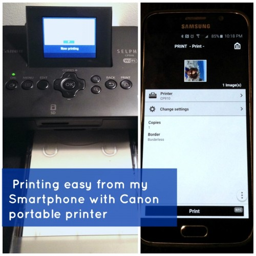portable printer for easy photos