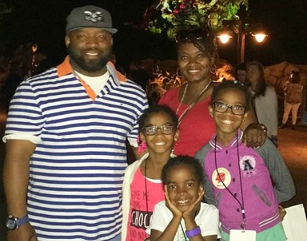 Me and the family in front of The Tree of Life at night. Look at those colors!