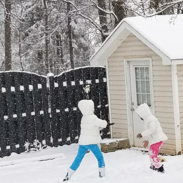 Snow Day 1 2018 They had so much fun playinghellip